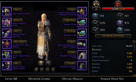 Wedding Attire Neverwinter by Wts Neverwinter Cleric Account Sell Trade Items