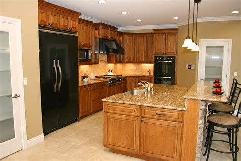 kitchen cabinets countertops and flooring combinations travertine floor cherry cabinets granite countertops