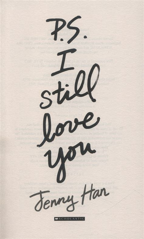 p s i still love you by han jenny 9781407157986 brownsbfs