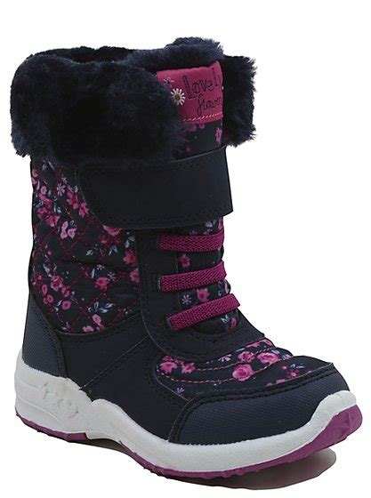floral snow boots floral print snow boots george at asda