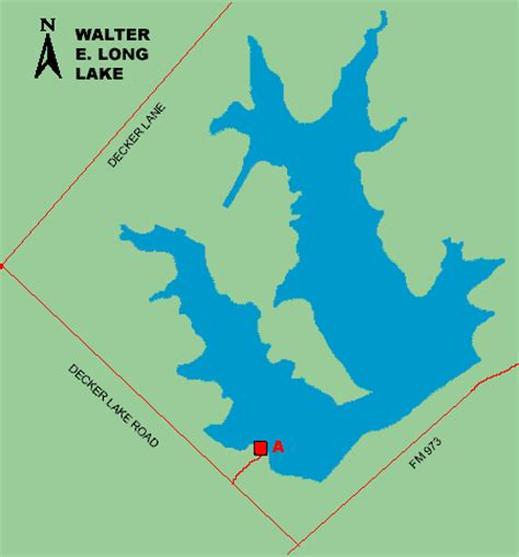 texas bank fishing map access to walter lake
