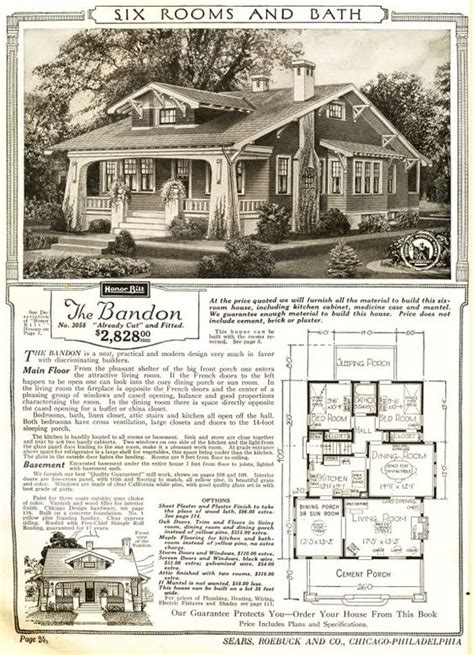 sears homes floor plans the bandon was a sears craftsman bungalow mail order house