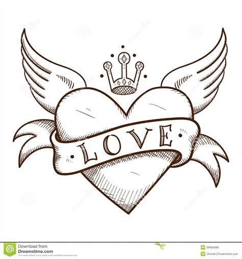 coeur avec la banni 232 re et la couronne photos libres de