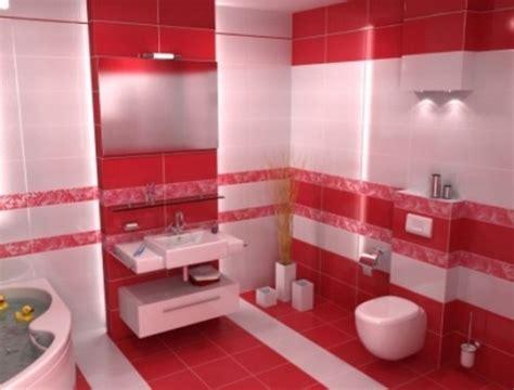 red bathroom design ideas interiorholic com حمامات عصرية باللون الاحمر و الابيض مجلة الاسرة العربية