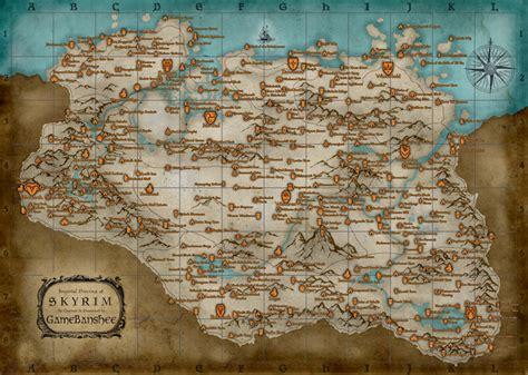 map of skyrim gamebanshee