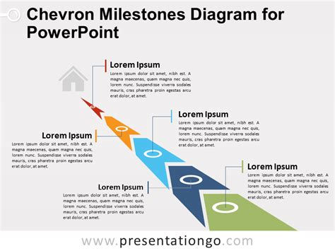 Chevron Milestones Diagram For Powerpoint Presentationgo Com Powerpoint Milestone Template