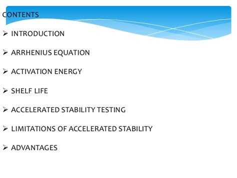 Shelf Accelerated Stability Testing by Power Point Presentation Shweta Patil
