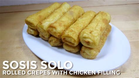 sosis solo rolled crepes  chicken coconut filling