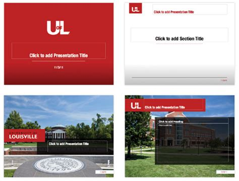 college powerpoint template powerpoint presentations uofl brand