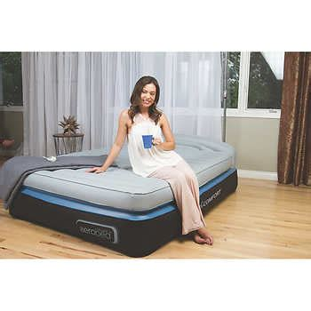 aerobed queen headboard aerobed opti comfort queen air mattress with headboard