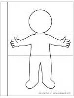 person template preschool flipbook printable templates coloring pages