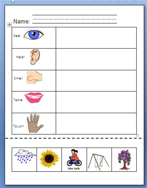 kindergarten activities senses our five senses worksheets joysofspring using my 5