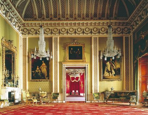 buckingham palace throne room spencer alley palatial giltwood
