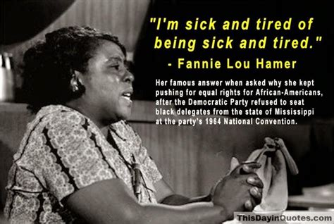 fannie lou hamer sncc ben jealous on twitter quot i m sick and tired of being sick