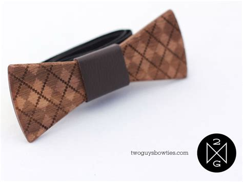 quot two guys quot craft bow ties from reclaimed wood fabric