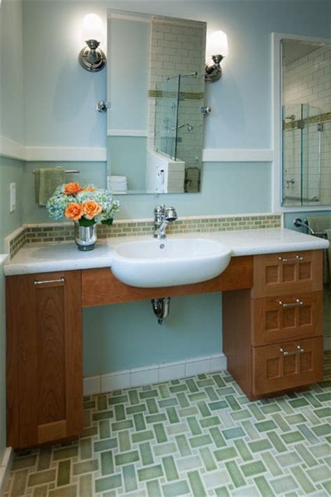 wheelchair accessible bathroom sink traditional bathroom by design set match universal