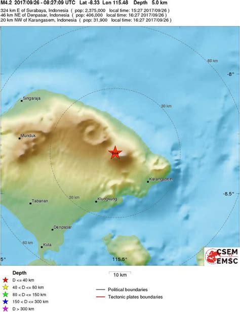 earthquake agung mount agung will the bali volcano erupt latest seismic