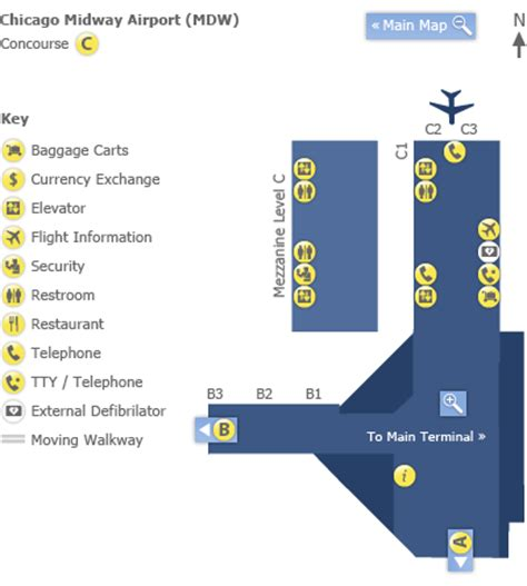 chicago midway airport map midway airport diagram chicago