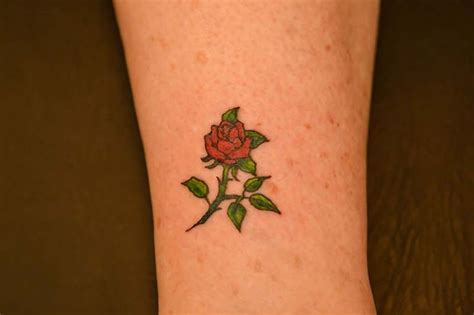 small rose tattoo on ankle small tattoos illustrators and tattoos on