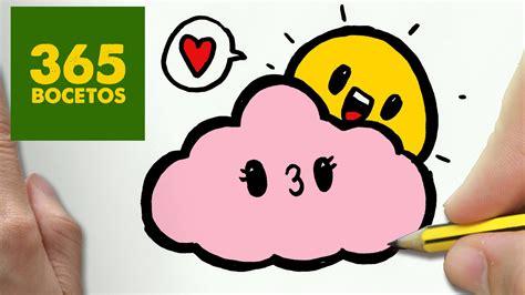 imagenes de dibujos kawaii como dibujar sol y nube kawaii paso a paso dibujos