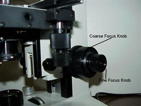 What Does The Focusing Knob On A Microscope Do by Coarse Adjustment Microscope 171 Optics Binoculars