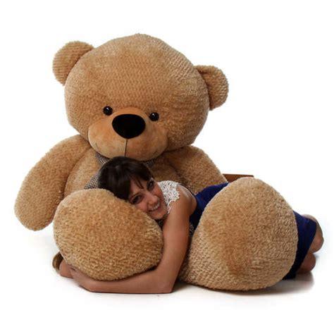 "Shaggy Cuddles 72"" Life Size Amber Plush Teddy Bear - The ... Giant Pink Teddy Bear"