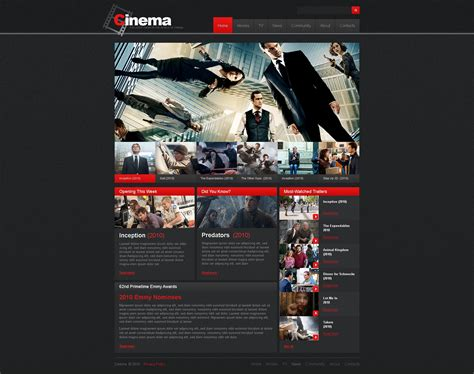 movie website template 30725