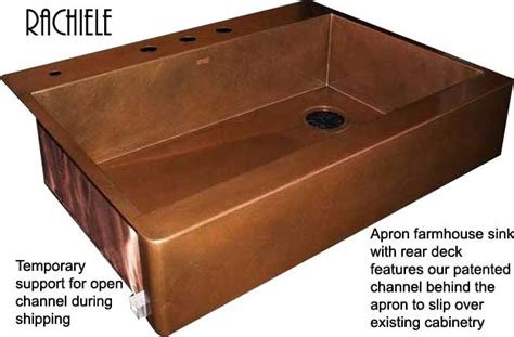 top mount apron front sink copper farm sinks crafted and custom made in the usa