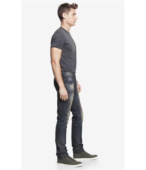 Slim Fit Black Leg By Express lyst express slim fit leg jean in black for