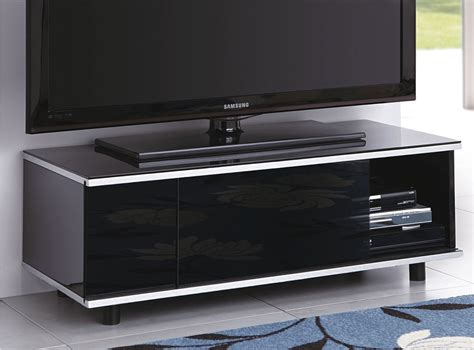 Black Tv Cabinet With Doors Mda Image Av Black Tv Cabinet With Remote Friendly Glass Sliding Doors