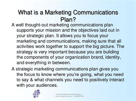 creating a blueprint creating a marketing communications plan