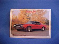 1977 Chevy Camaro Rally Sport Lt Collector Card From 20 Yr
