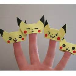 Origami Finger Puppet - pikachu finger puppet origami tutorial free printable