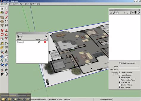 sketchup floor plan sketchup floorplan part1 setup mp4