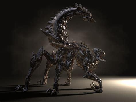 3d hd model gothic dragon hybrid zerg hd 3d model zerg spider xenomorph