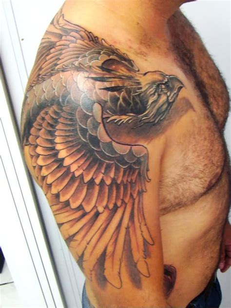 3d shoulder tattoo 3d on shoulder and half sleeve