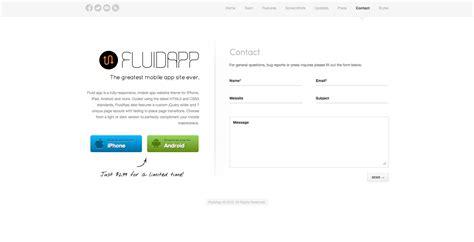 themeforest contact fluidapp responsive mobile app wordpress theme by