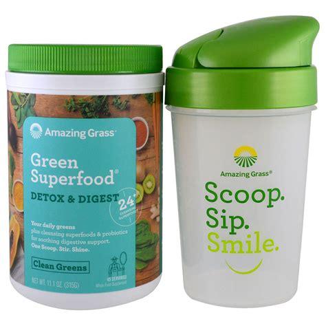 Detox Grass by Amazing Grass Green Superfood Detox Digest Shaker Gift