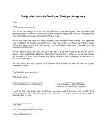 Resignation Confirmation Letter by Employee Resignation Letter Employer Acceptance Images