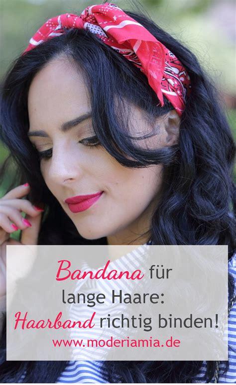Bandana Richtig Binden by Bandana F 252 R Lange Haare Haarband Mit Schleife Binden