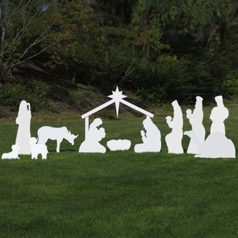 Large Silhouette Outdoor Nativity Set Full Scene By Nativity Yard Sign Template