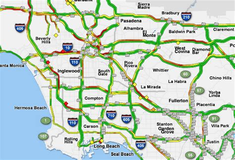 map of los angeles with freeways los angeles freeway traffic map indiana map