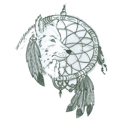 tattoo inspiration dreamcatcher dreamcatcher and wolf tattoo design by push it art d877ckn