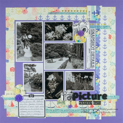 scrapbook layout black and white black and white photos on a layout scrapbook with lynda