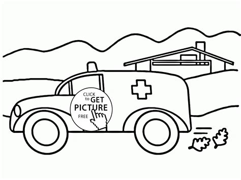 car coloring pages preschool ambulance car coloring page for preschoolers