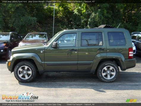 green jeep liberty 2008 2008 jeep liberty sport 4x4 jeep green metallic pastel
