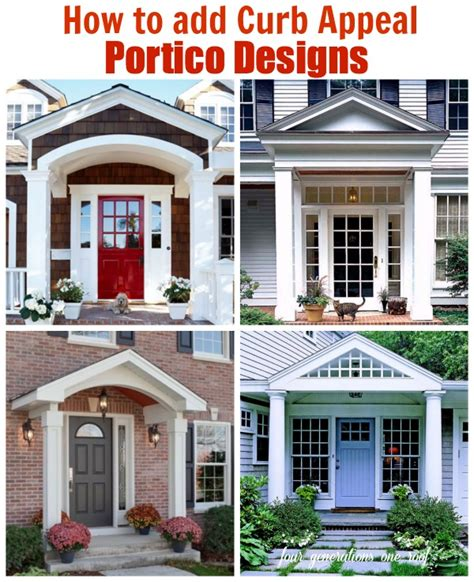 curb appeal meaning how to add curb appeal with a portico four generations