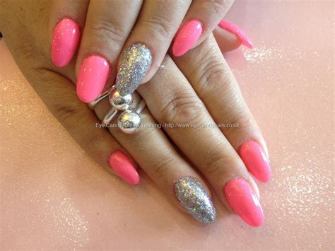 Jiuku Nail Purple Green White Glitter 63 acrylic nails with pink gel and silver glitter on