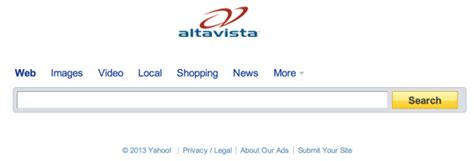 Alta Vista Search A Eulogy For Altavista The Of Its Time