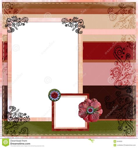 scrapbook album layout bohemian gypsy scrapbook album page layout stock